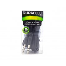 Cable Audio Mini Plug Jack Spica 3.5mm Aux 1.5m Duracell