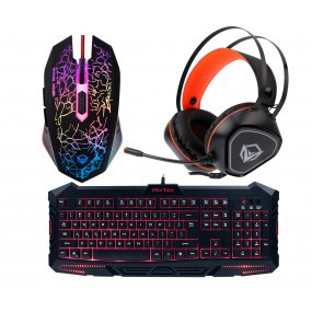Combo Teclado Mouse Gamer Meetion Retroiluminado Pro C5