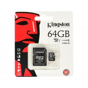 Memoria Microsd 64gb Kingston Clase10 Con Adaptador Oferta