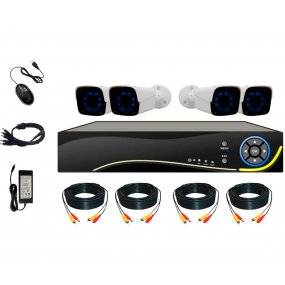 Kit Seguridad OFXPRO Dvr 4 HD + 4 Camaras Metálicas Ext 1mp