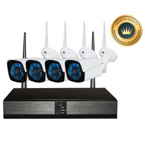 Kit Seguridad OFXPRO Dvr 4 HD + 4 Camaras Metálicas Ext 1mp Wifi